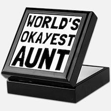 Worlds Okayest Aunt Keepsake Box