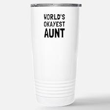 Worlds Okayest Aunt Travel Mug
