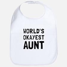 Worlds Okayest Aunt Bib