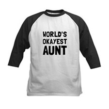 Worlds Okayest Aunt Baseball Jersey