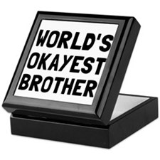 Worlds Okayest Brother Keepsake Box