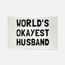 Worlds Okayest Husband Magnets