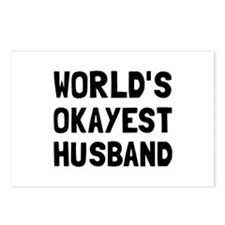 Worlds Okayest Husband Postcards (Package of 8)