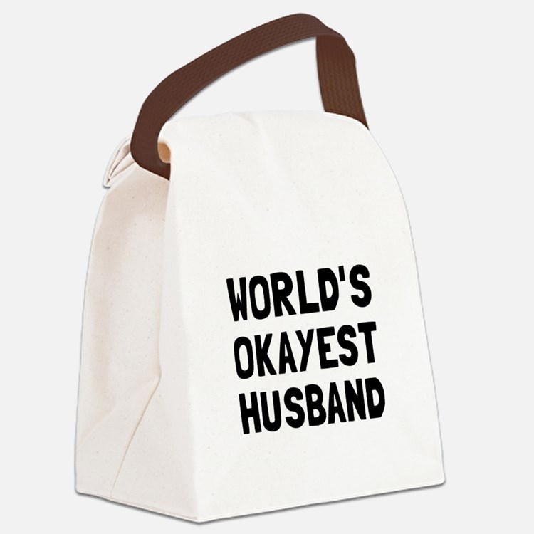 Worlds Okayest Husband Canvas Lunch Bag