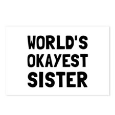 Worlds Okayest Sister Postcards (Package of 8)