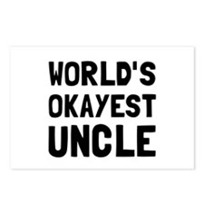 Worlds Okayest Uncle Postcards (Package of 8)