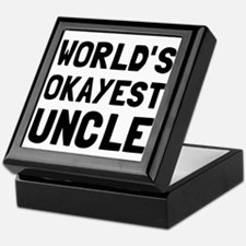 Worlds Okayest Uncle Keepsake Box