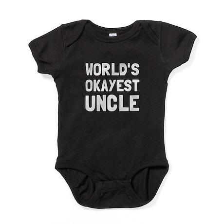 Worlds Okayest Uncle Baby Bodysuit