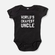 Worlds Okayest Uncle Baby Bodysuit