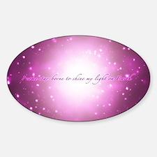 Star-Borne Magenta Sticker (Oval)