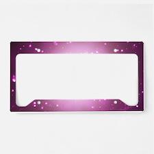 Star-Borne Magenta License Plate Holder