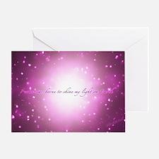 Star-Borne Magenta Greeting Card
