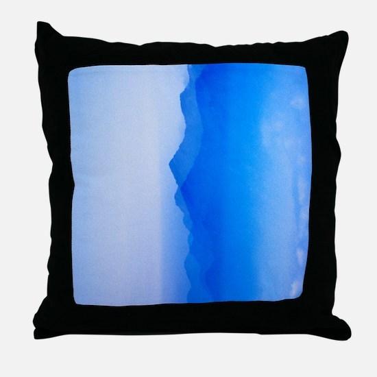 Abstract watercolor texture ombre Throw Pillow