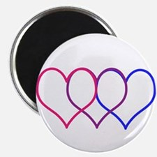 Bisexual Hearts Magnets