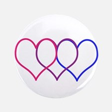 """Bisexual Hearts 3.5"""" Button (100 pack)"""