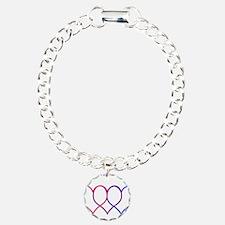 Bisexual Hearts Bracelet