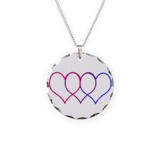 Bisexual Hearts Necklace