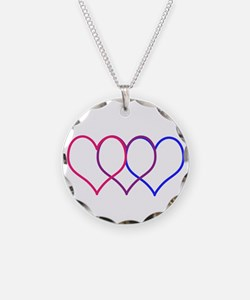 Bisexual Hearts Necklace