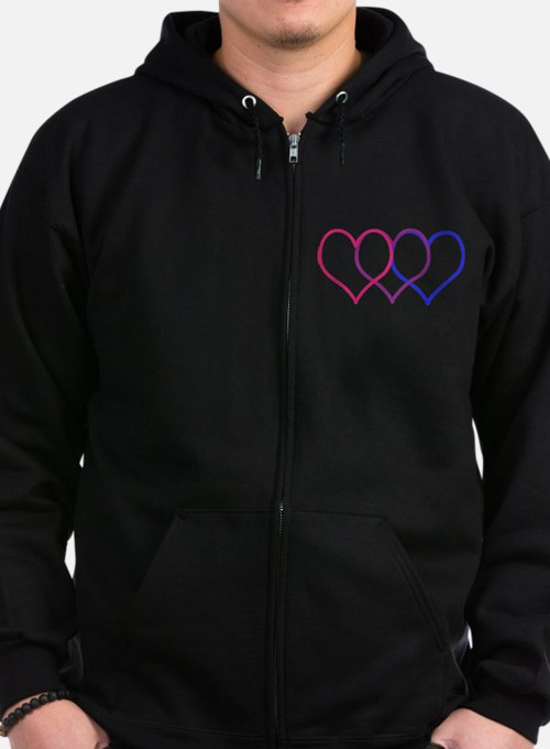Bisexual Hearts Zip Hoody