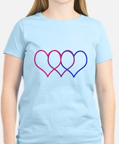 Bisexual Hearts T-Shirt