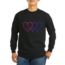 Bisexual Hearts Long Sleeve T-Shirt