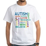 Autism word cloud Mens White T-shirts