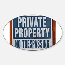 PRIVATE PROPERTY! Decal