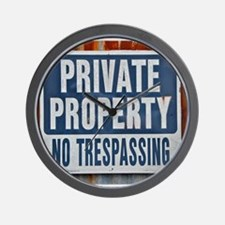 PRIVATE PROPERTY! Wall Clock