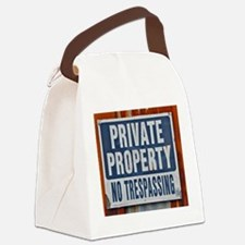 PRIVATE PROPERTY! Canvas Lunch Bag