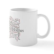 Sherlock Holmes: A Study in Scarlet Word Cloud Mug
