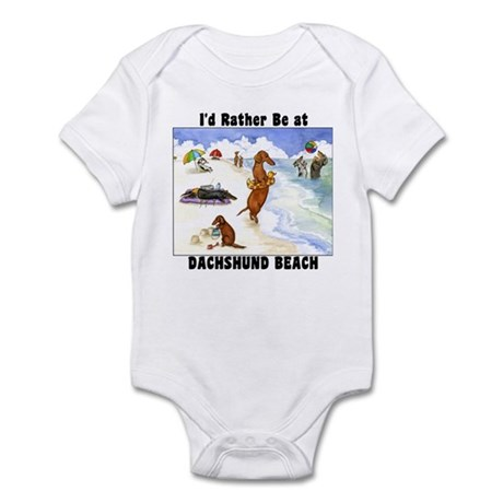 Dachshund Beach Infant Bodysuit