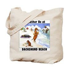 Dachshund Beach Tote Bag