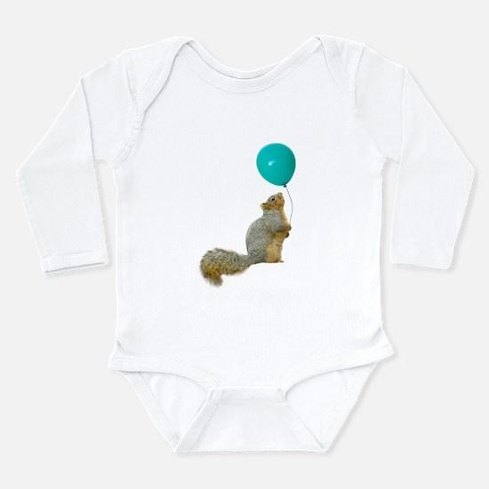 Fat Squirrel Long Sleeve Infant Bodysuit