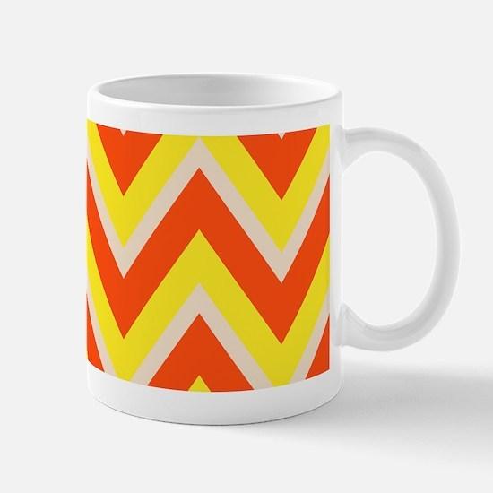 Candy Corn Chevron Mug