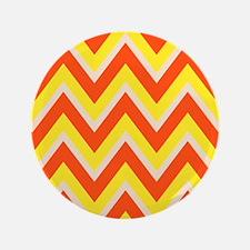 "Candy Corn Chevron 3.5"" Button (100 pack)"