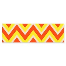 Candy Corn Chevron Bumper Sticker
