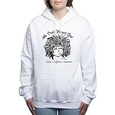 Curly Hair plus Caffeine Women's Hooded Sweatshirt