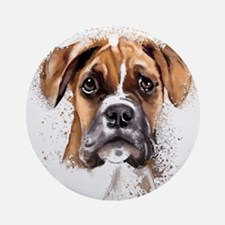 Boxer Painting Ornament (Round)