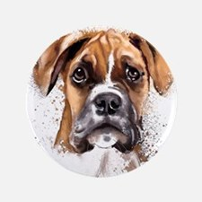 """Boxer Painting 3.5"""" Button (100 pack)"""