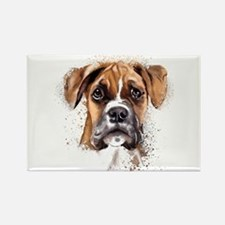 Boxer Painting Magnets