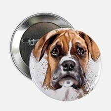"""Boxer Painting 2.25"""" Button"""