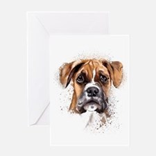 Boxer Painting Greeting Cards