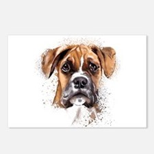 Boxer Painting Postcards (Package of 8)