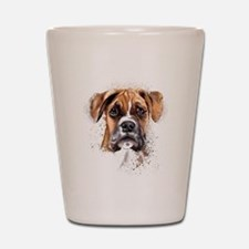 Boxer Painting Shot Glass