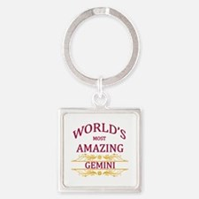 World's Most Amazing Gemini Square Keychain