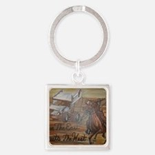 When the East meets the West Square Keychain