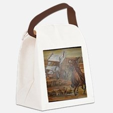 When the East meets the West Canvas Lunch Bag