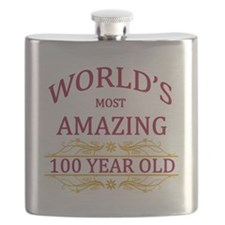 100th. Birthday Flask