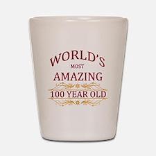 100th. Birthday Shot Glass