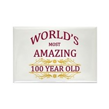 100th. Birthday Rectangle Magnet